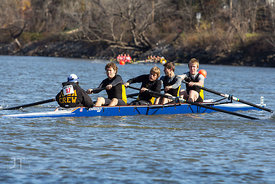 Head of the Iowa Rowing Regatta, Iowa River, October 28, 2012