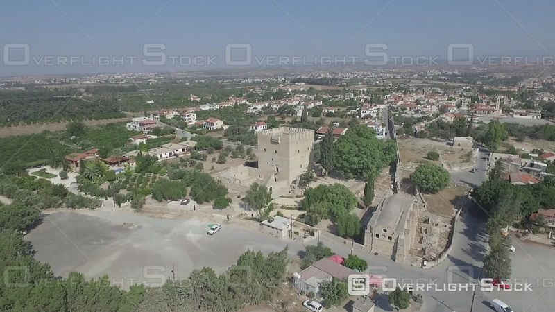 Kolossi Castle Grand Commandery of the Knights Templar 13th Century Drone Video Cyprus