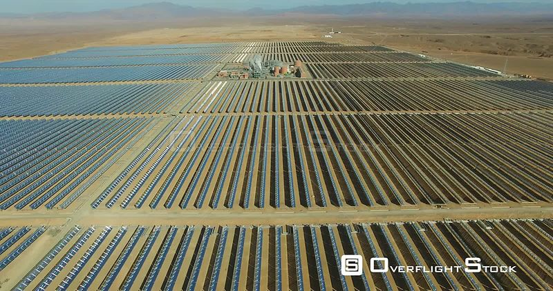 Ouarzazate Solar Power Station, also called Noor Power Station Morroco