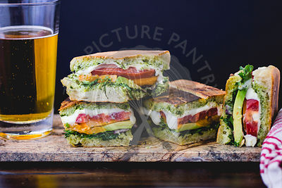 Panini and beer lunch