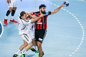 Lovro ŠPREM of PPD Zagreb, Jorge MAQUEDA of Vardar during the Final Tournament - Final Four - SEHA - Gazprom league, semi fin...