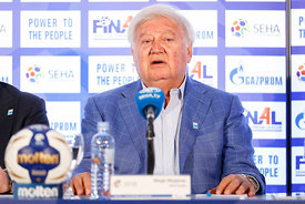 Mihajlo Mihajlovski during the Final Tournament - Closing press conference - Final Four - SEHA - Gazprom league, Skopje, 15.0...