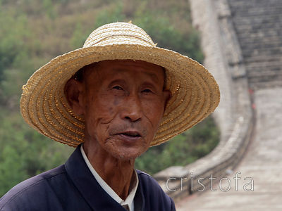 this wily gentleman traded with the few tourists who visited this part of the  Great Wall