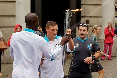 Paralympic Torch Bearers Changeover