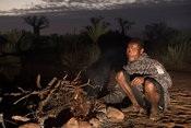 Antandroy man making a fire, Mandrare River Camp, Ifotaka Community Forest, Madagascar