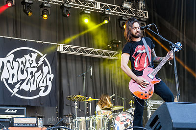 SACRAMENTO, 22 October 2017: Them Evils, performing at Aftershock festival in Discovery Park, Sacramento, California