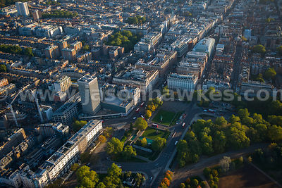 Aerial view of Marble Arch, London