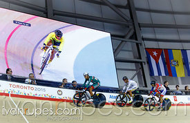 Men's Omnium Scratch Race, Track Day 1, Toronto 2015 Pan Am Games, Milton Pan Am/Parapan Am Velodrome, Milton, On; July 16, 2015