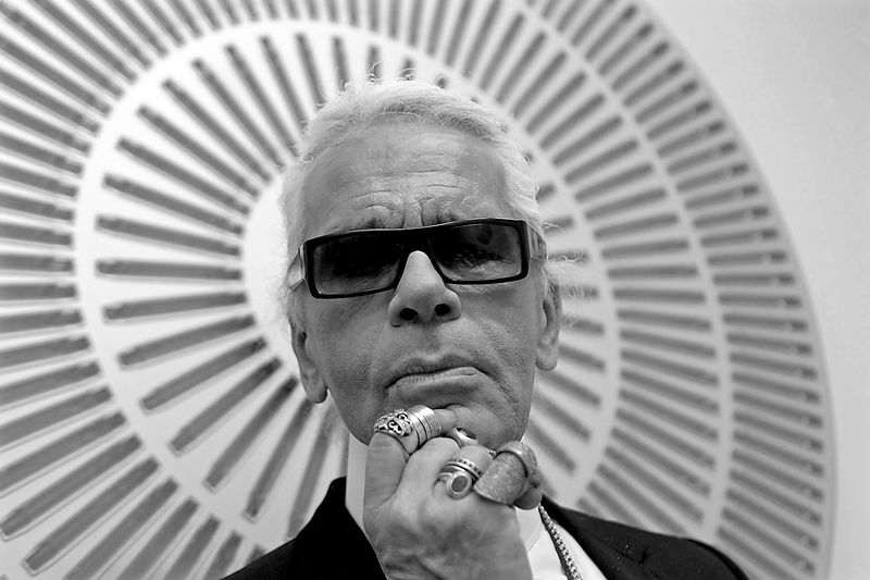 Karl Lagerfeld Chanel Fashion Designer .