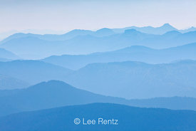 Cascade Ridges Blue with Forest Fire Smoke