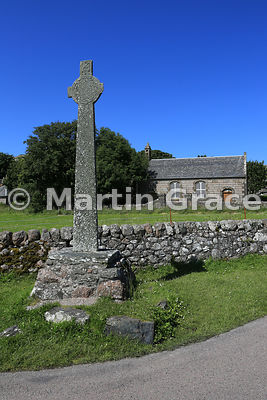 East face of MacLean's Cross (late 15th C), Isle of Iona, Inner Hebrides, Scotland