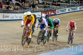 Men's Scratch Race. Track Cycling World Cup Milton, October 26, 2018