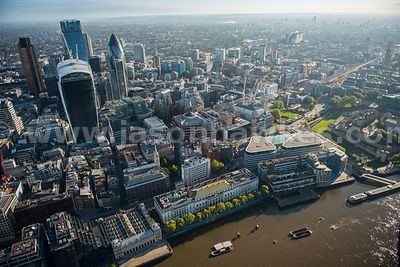 Aerial view of Custom House, London