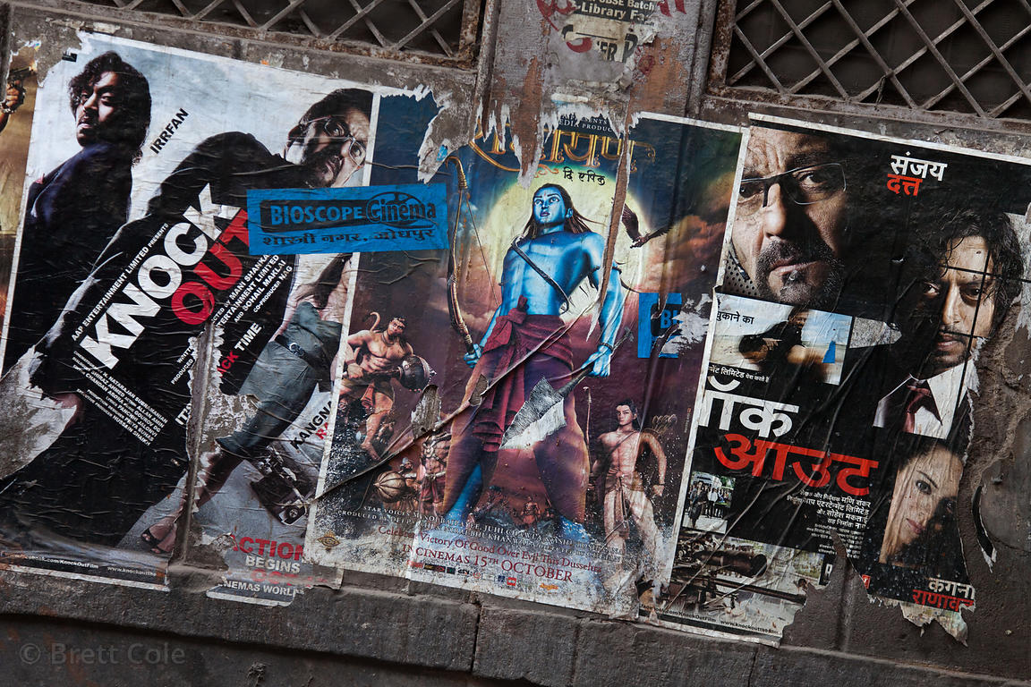 Movie posters in an alley in Jodhpur, Rajasthan, India