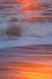 Beach Foam Sunset