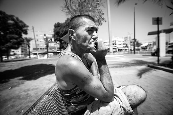 drugs addicts in south tel aviv