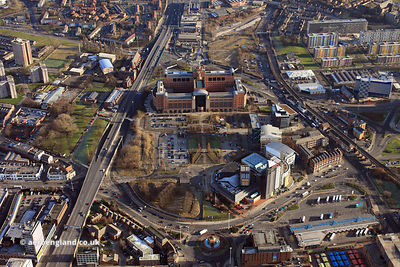 aerial photograph of Leeds Quarry Hill