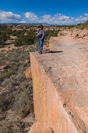 Trail along Cliff at Tsankawi in Bandelier National Monument
