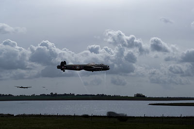Dambusters rehearsing at Abberton Reservoir small version