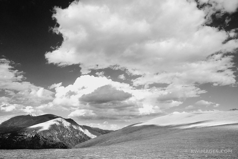HIGH TUNDRA NEAR ALPINE VISITOR CENTER ROCKY MOUNTAIN NATIONAL PARK COLORADO BLACK AND WHITE