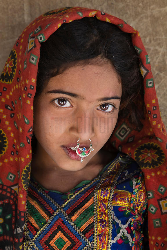Portrait of a Young Girl from the Jat Tribe