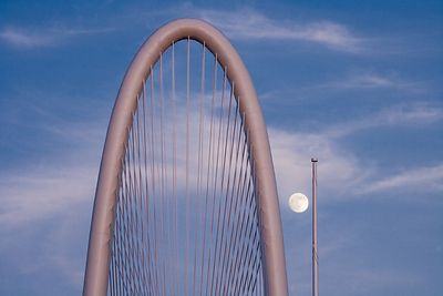 Margaret Hunt Hill Bridge and moon
