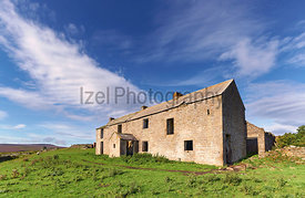 Abandoned farm building in County Durham