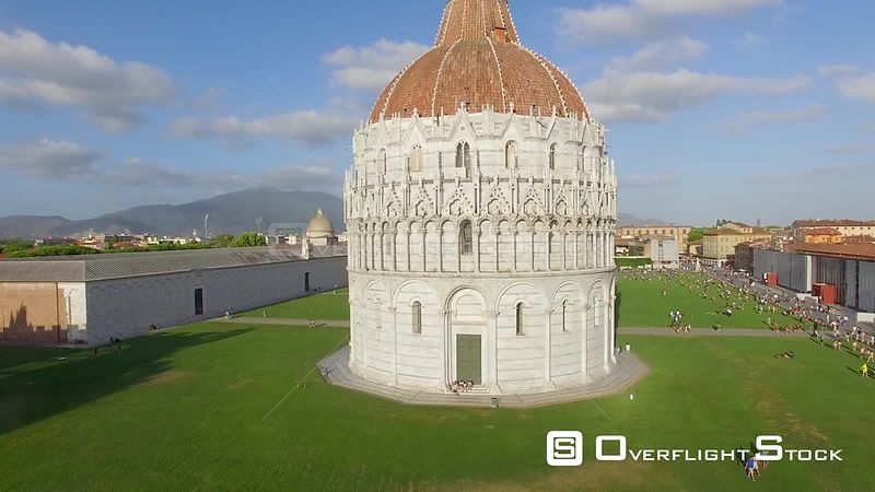 Square of Miracles, Leaning Tower of Pisa Drone Video Italy.