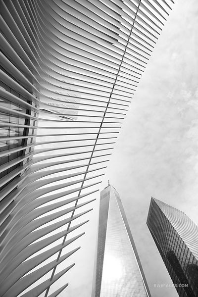 OCULUS MODERN ARCHITECTURE WORLD TRADE CENTER FREEDOM TOWER MANHATTAN NEW YORK CITY NEW YORK BLACK AND WHITE VERTICAL