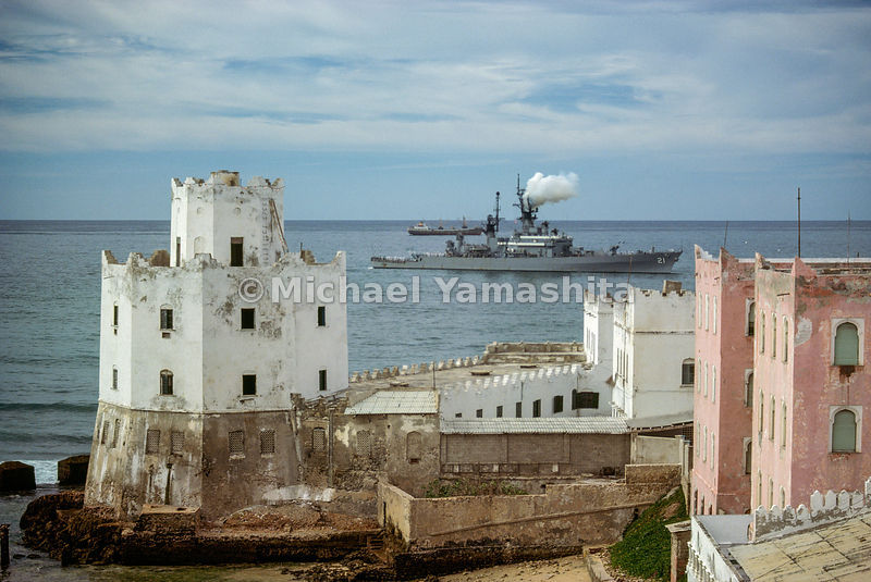 New presence in Somalia harbors, a missile cruiser from the U.S. Seventh Fleet visits Mogadishu, seat of a government rooted ...