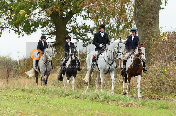 Dick Wise, Clare Bell. The Cottesmore Hunt at Somerby