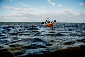 Nordic woman kayaking 3
