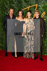 Rande Gerber, Cindy Crawford, Kaia Gerber and Presley Gerber attend The Fashion Awards 2018 at The Royal Albert Hall. London, UK. 10/12/2018