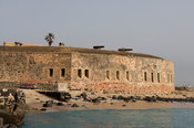 Fort d'Estrées, built by the French in 1850, houses the IFAN historical museum, Gorée Island, Senegal