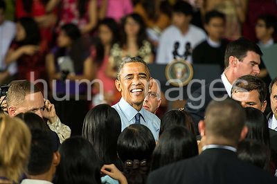 President Obama Hosts a Young Southeast Asian Leaders Initiative Town Hall in Rangoon, Burma