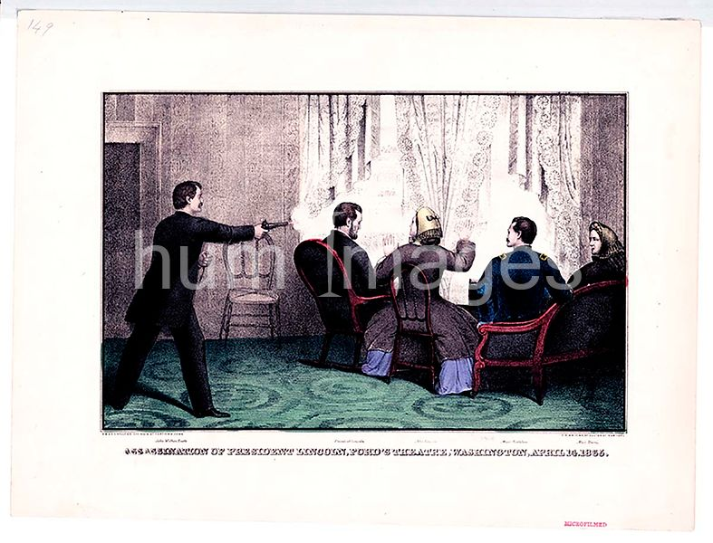 Assassination of President Lincoln, Ford's Theatre, Washington, April 14, 1865