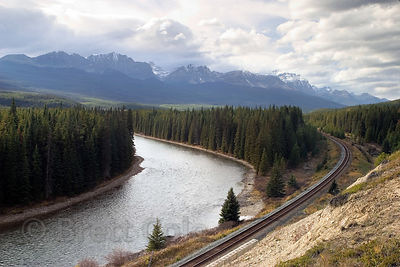 Magnificent view from the Bow Valley Parkway, Banff NP, Canadian Rockies.