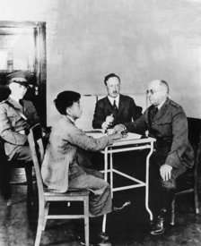 Asian immigrant undergoes tests at Angel Island in California