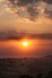 Sunset over the Thar Desert in Pushkar, Rajasthan, India