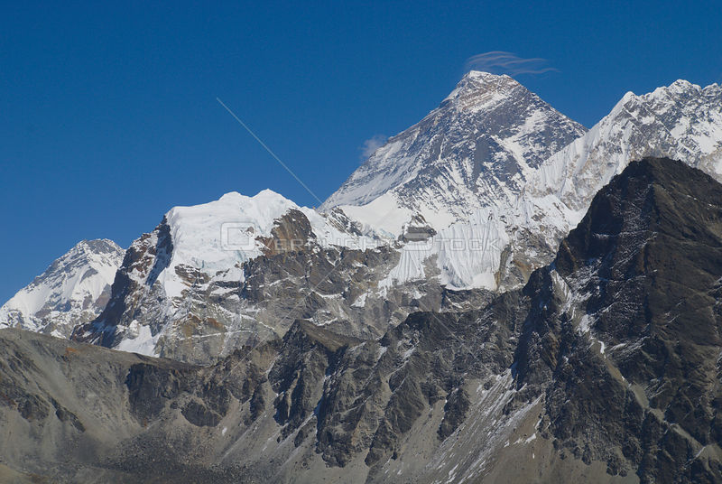 NEPAL Mount Everest -- The summit of the world's highest mountain, Mount Everest, which towers 8848 metres above sea level in...
