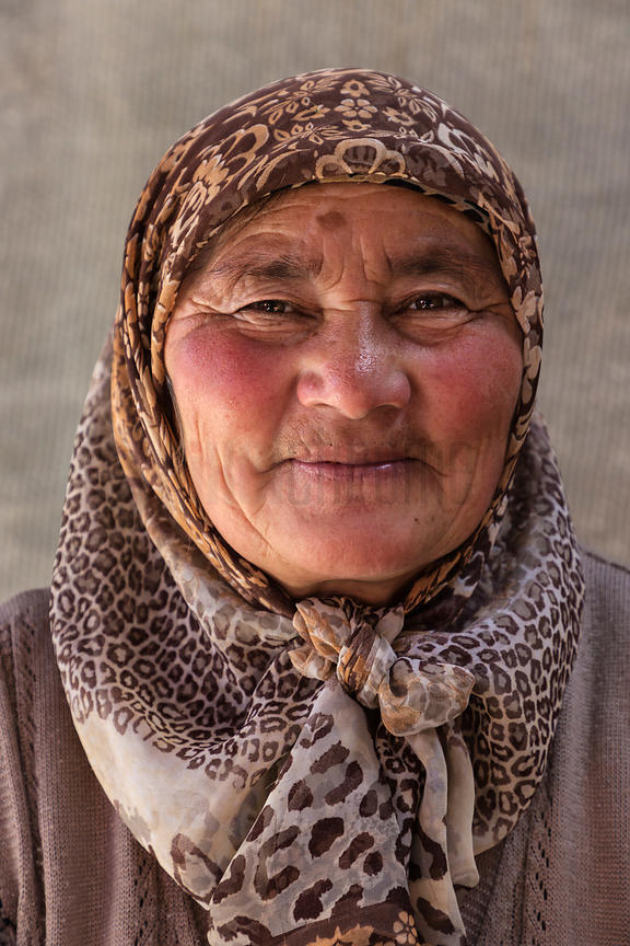 Portrait of a Kyrgyz Woman at the Osh Bazaar