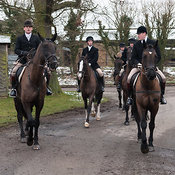 The Cottesmore Hunt at Little Dalby 12/2