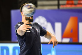 Tin Kontrec of team PPD Zagreb training during the Final Tournament - Final Four - SEHA - Gazprom league, Skopje, 12.04.2018,...