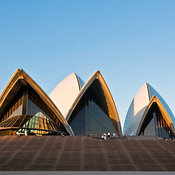 View of the Sydney Opera House at Bennelong Point, Sydney, New South Wales, Australia
