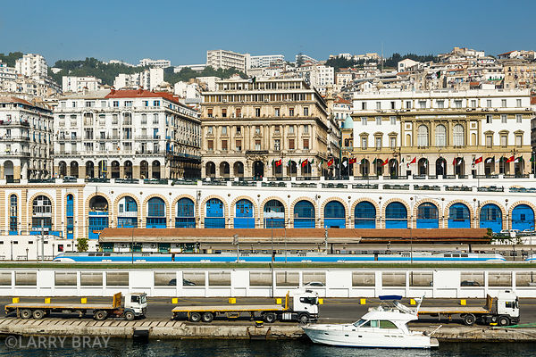 View of  the city of Algiers from the harbour, Algiers, Algeria, North Africa
