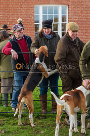 At the Meet. The Belvoir Hunt at Sheepwash 29/12