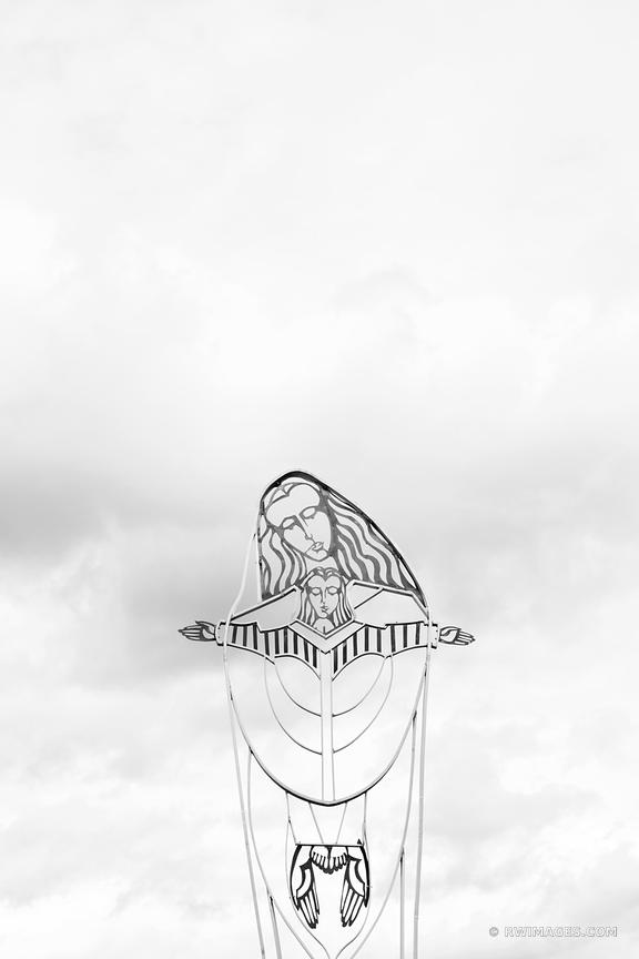 MARY MOTHER OF PRIESTS CATHOLIC CHURCH JEMEZ SPRINGS NEW MEXICO BLACK AND WHITE VERTICAL
