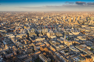 Aerial view of London, Temple towards The Barbican.