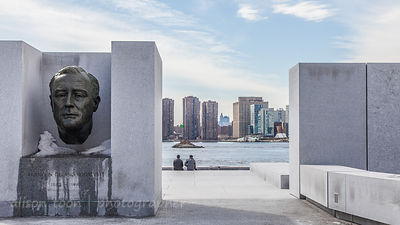 Roosevelt Memorial, Four Freedoms Park, Roosevelt Island, New York