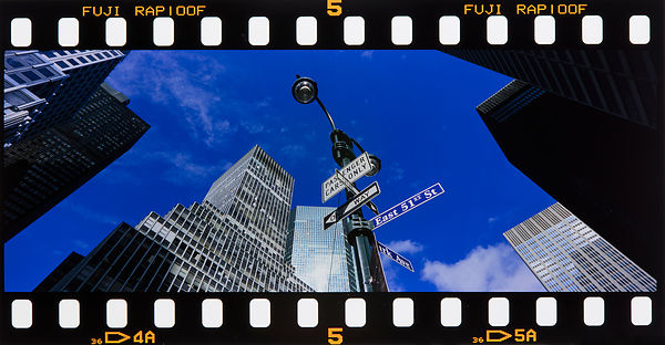 East 51st Street:  New York 2002:    Photographer Neil Emmerson  Edition of 25.